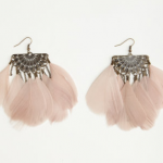 feather earrings $7.50