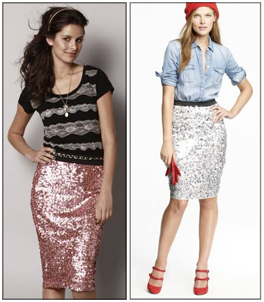 Boxwood Clippings » Blog Archive » Look for Less – J.Crew Sequin Skirt