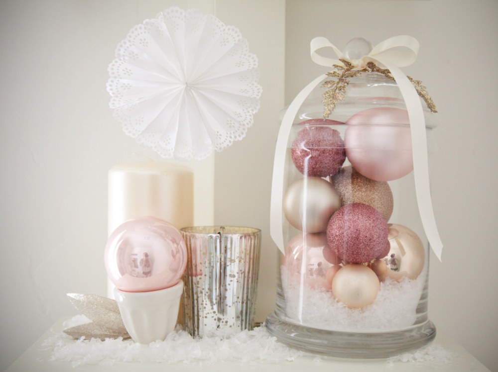 i - Blush Christmas Decorations