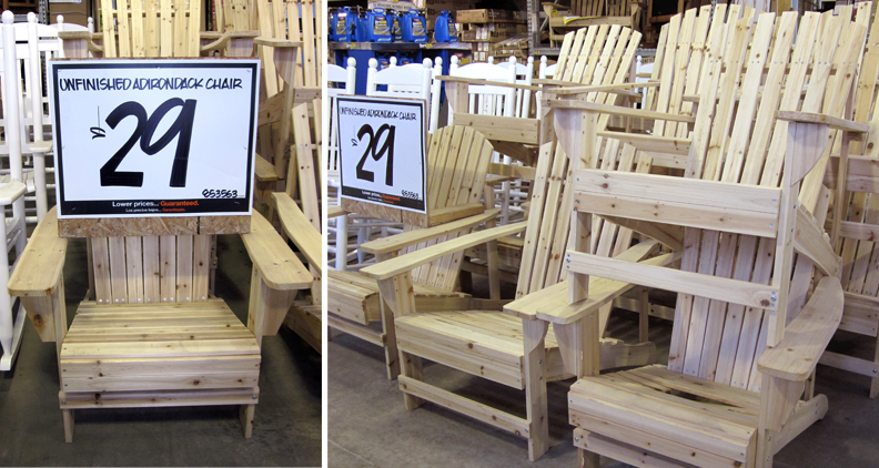 adirondack chair plans home depot