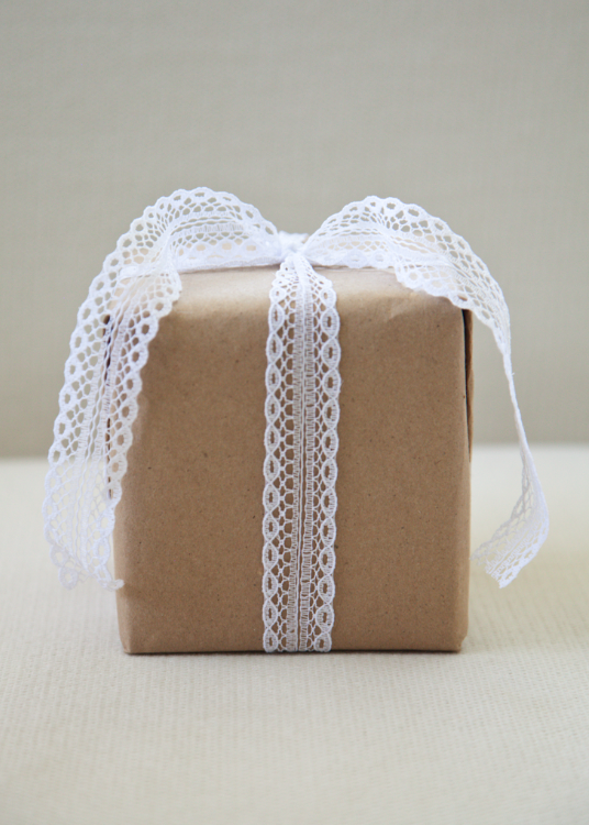 Boxwood Clippings » Blog Archive » Lace Gift Wrap