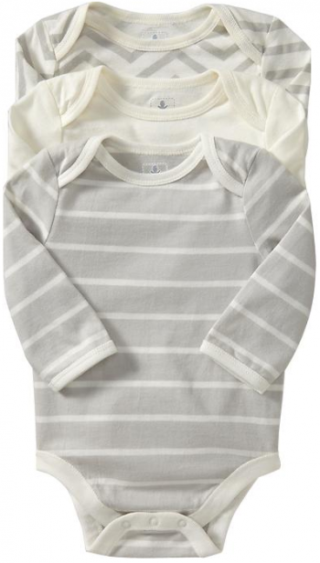 boxwoodclippings_old navy stripe onsies