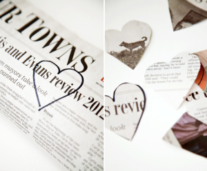 boxwood clippings_newspaper hearts 1
