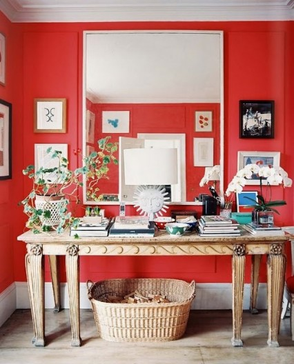 boxwoodclippings_punchy red walls
