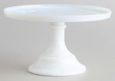 boxwoodclippings_world market white glass cake stand
