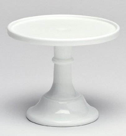 boxwoodclippings_white milk glass cake stand
