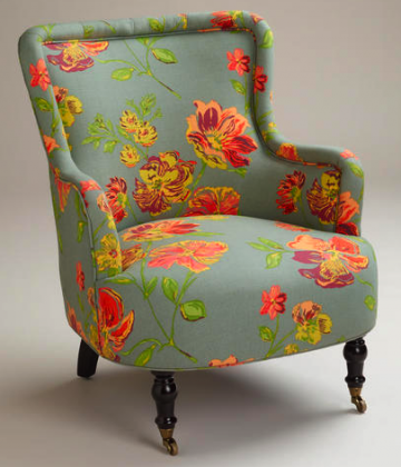 boxwoodclippings_floral chair