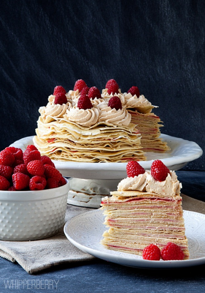 boxwood clippings_whipperberry crepe cake