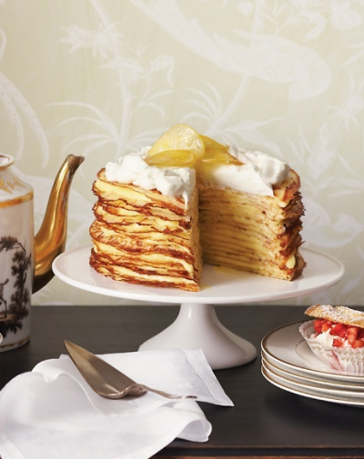boxwood clippings_martha stewart crepe cake