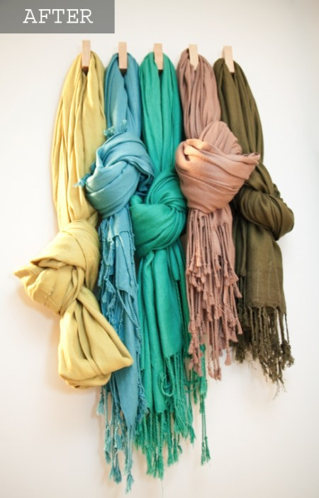 boxwood clippings_organized scarfs