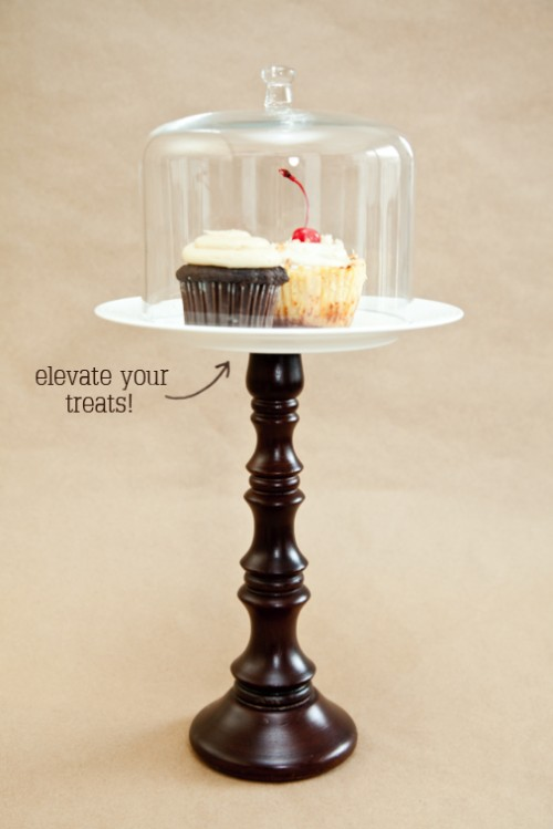 boxwood  clippings_candlestick cakestand diy 2