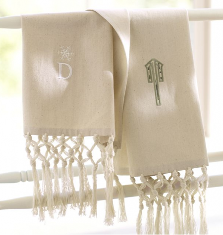 boxwoodclippings_pottery barn monogrammed towels