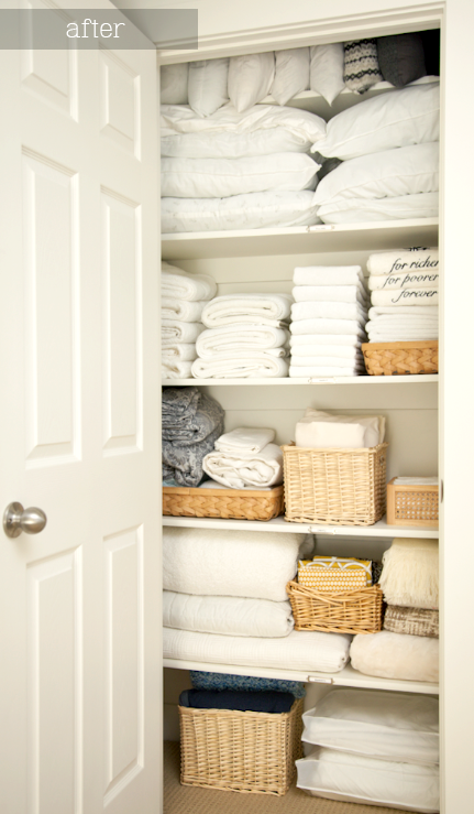 boxwood clippings_linen closet