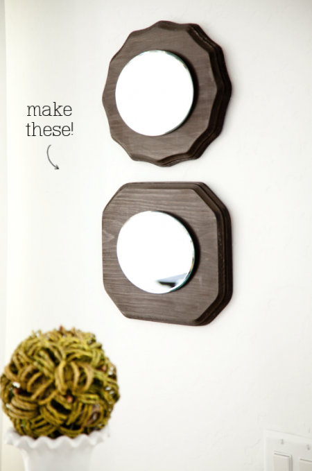 boxwood clippings_wooden plaque mirror1