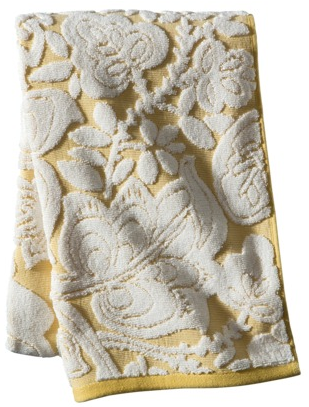 boxwoodclippings_target yellow floral towel