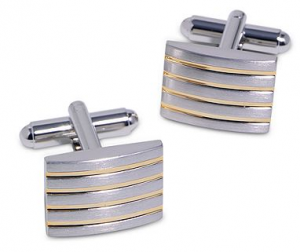 boxwoodclippings_two-tone striped cufflinks
