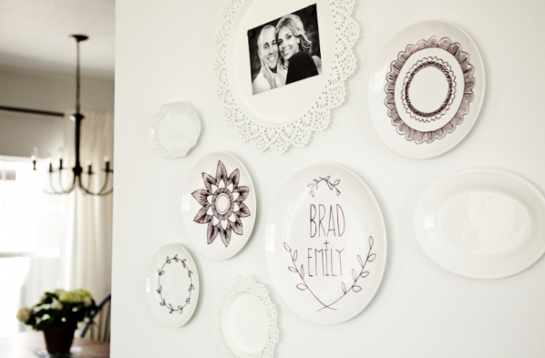 Personalized Sharpie Plates | Cool Home Decor Wall Art Ideas for You to Craft | wall art | decorative wall art