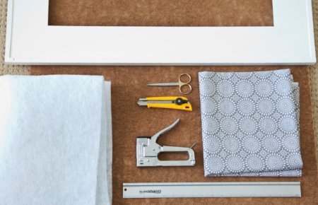 boxwood clippings_diy fabric notice board