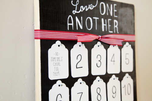 Service Advent Calendar - LOVE this idea! { lilluna.com } Great way to involve the family creating ideas to serve!
