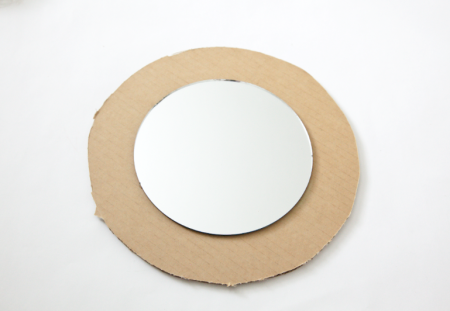 boxwood clippings_diy sunburst mirror