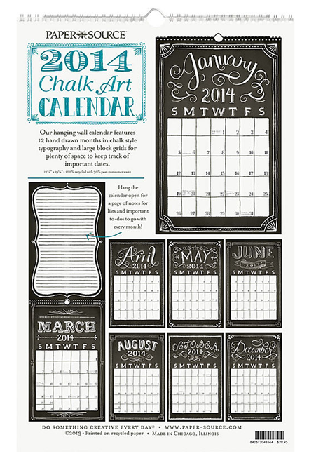 boxwoodclippings_papersource chalkboard calendar