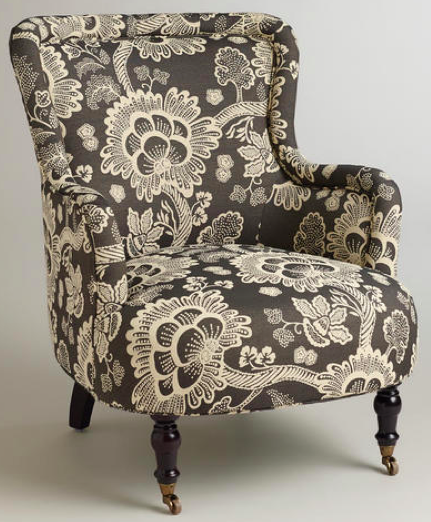 boxwoodclippings_world market floral chair