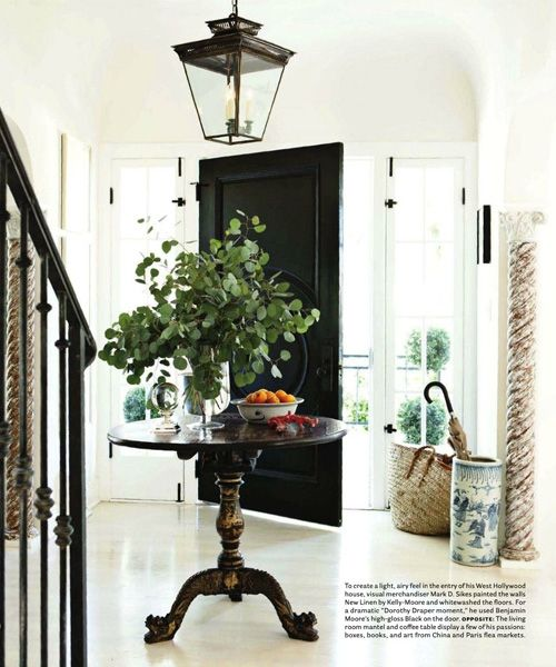 Boxwood clippings blog archive black interior doors for Interior entryway designs