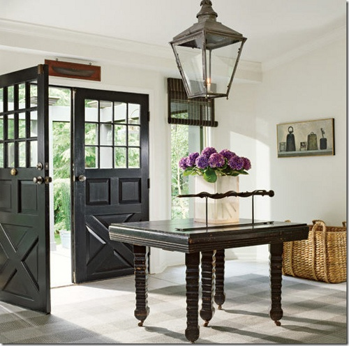Boxwood clippings blog archive black interior doors for Black french doors exterior