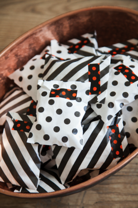 boxwood clippings_halloween mini treat bags