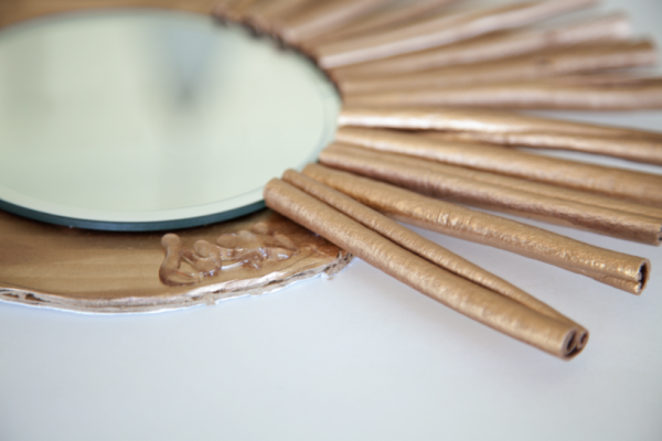 boxwood clippings_cinnamon stick mirror diy