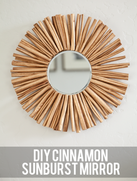 boxwood clippings_diy cinnamon sunburst mirror