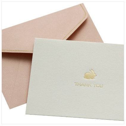 boxwoodclippings_gold foil thank you note