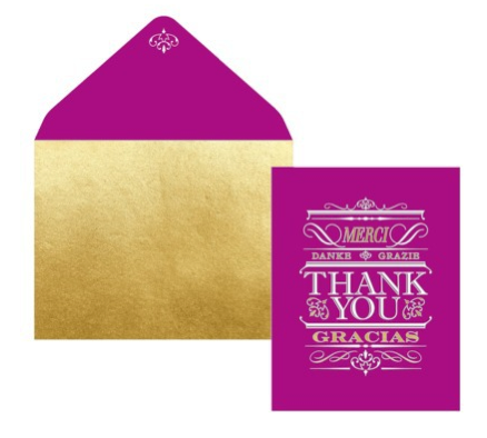 boxwoodclippings_bold purple thank you card