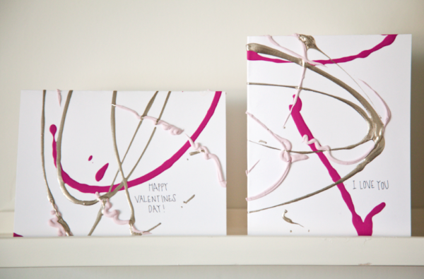 DIY Abstract Valentine Cards