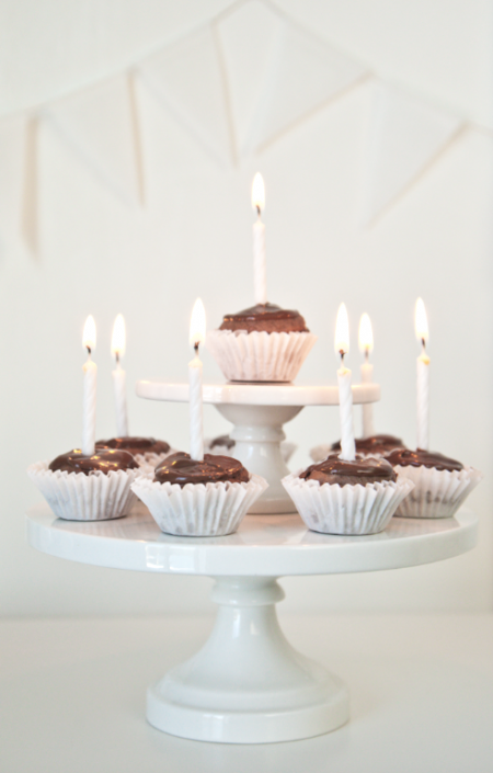 Miniature Cupcake Birthday Cake