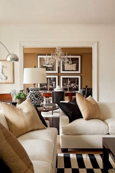 a hint of black family room