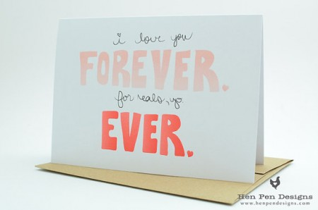 i love you forever for reals card