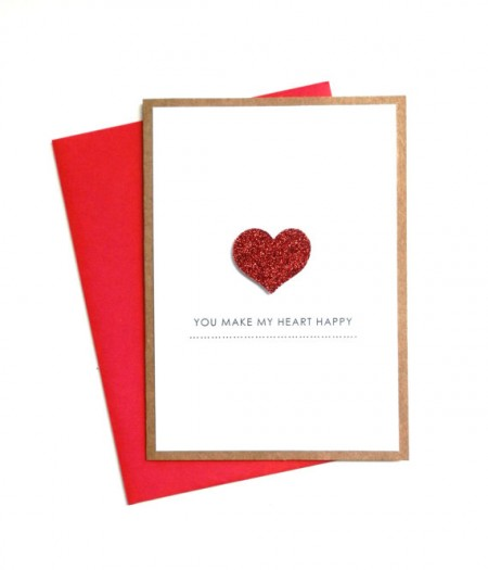 you make my heart happy card