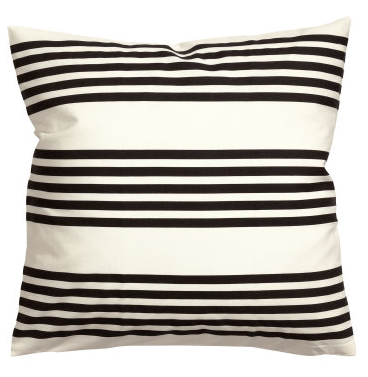 boxwoodclippings_b+w stripe pillow