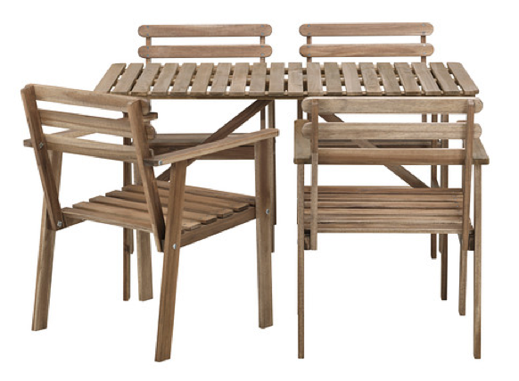 boxwoodclippings_$119 ikea patio set