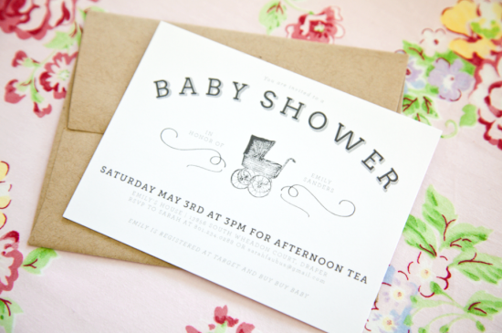 boxwood clippings_baby shower invitations