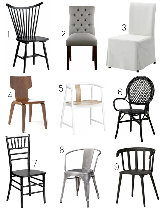 boxwood clippings_9 dining chairs under $100