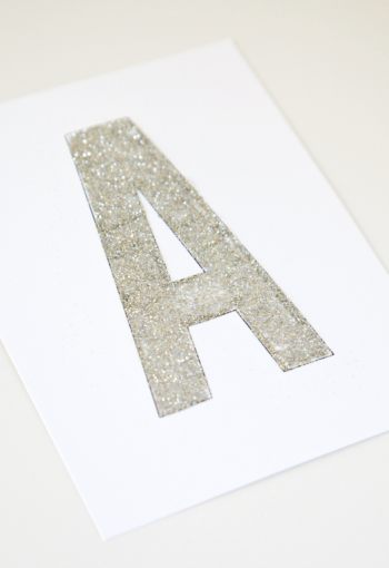 boxwood clippings_personalized glitter banner