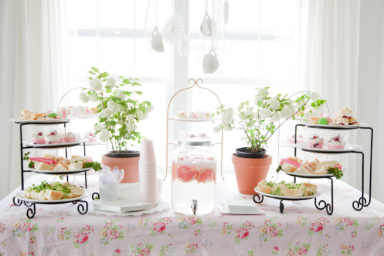 boxwood clippings_baby shower, tea party