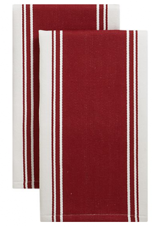boxwoodclippings_red stripe tea towels