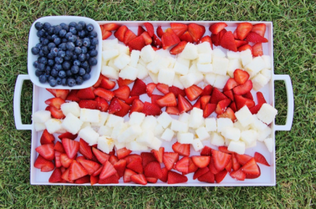 boxwoodclippings_flag fruit platter