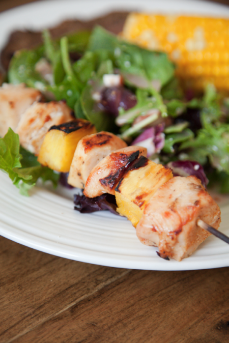 boxwood clippings_easy pineapple and chicken kebabs
