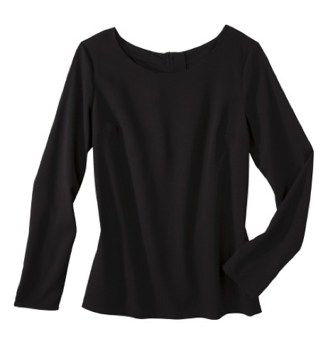 boxwoodclippings_black crepe blouse
