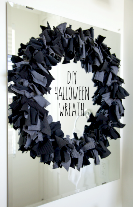 boxwood clippings_diy halloween wreath