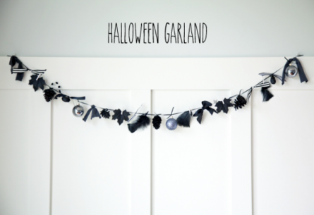 boxwood clippings_diy halloween garland